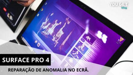 Surface Pro 4: Reparação de anomalia comum no ecrã.