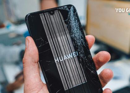 Huawei com ecrã partido